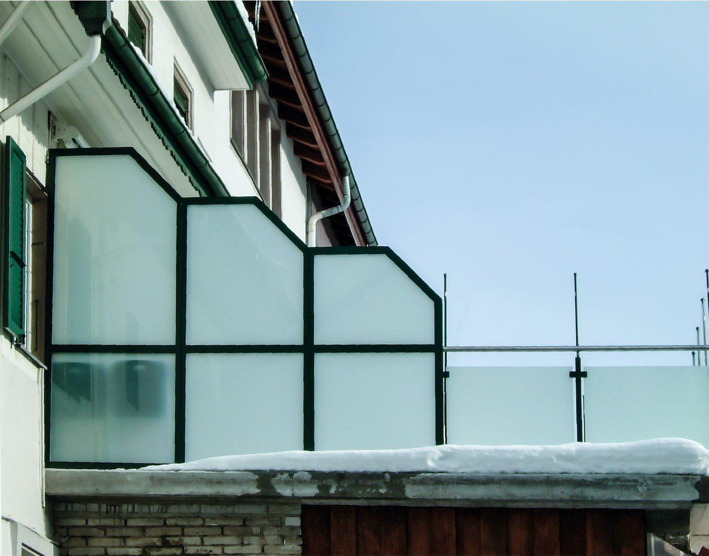 Windschutzwand Auf Balkon Wahl